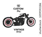 hand drawn graphic old school... | Shutterstock .eps vector #1059593186