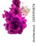 purple dye in water on white... | Shutterstock . vector #1059593876