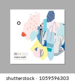 creative art card with... | Shutterstock .eps vector #1059596303
