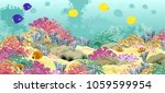 sea underwater world with... | Shutterstock .eps vector #1059599954