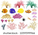 corals and underwater fauna  ... | Shutterstock .eps vector #1059599966