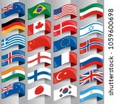 flags of european nations. | Shutterstock .eps vector #1059600698