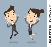 business man and woman... | Shutterstock .eps vector #1059601049