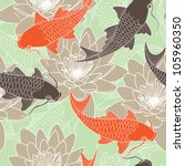 Seamless Pattern With Lotus An...