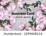 vintage roses background vector.... | Shutterstock .eps vector #1059608114