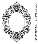 baroque frame decor. detailed... | Shutterstock .eps vector #1059608120