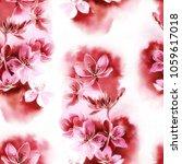 sakura blossom mix repeat... | Shutterstock . vector #1059617018