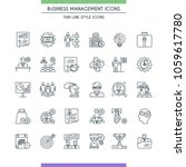business management icons.... | Shutterstock .eps vector #1059617780