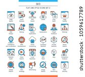 search engine optimisation and...   Shutterstock .eps vector #1059617789