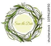 handdrawn wreath made in vector.... | Shutterstock .eps vector #1059618950