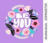 be you   handdrawn illustration....   Shutterstock .eps vector #1059620720