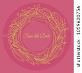 handdrawn wreath made in vector.... | Shutterstock .eps vector #1059620756