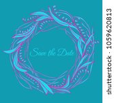 handdrawn wreath made in vector.... | Shutterstock .eps vector #1059620813