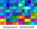 abstract 3d colorful geometric... | Shutterstock .eps vector #1059626468