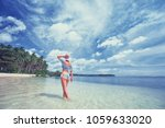 vacation on the seashore. back... | Shutterstock . vector #1059633020