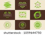 organic 100 percent product... | Shutterstock .eps vector #1059644750