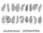 set of black hand drawn...   Shutterstock .eps vector #1059644906