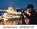 photographer with tripod. young ... | Shutterstock . vector #1059646739