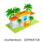 vector icon villa | Shutterstock .eps vector #105964718