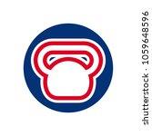 kettlebell as fitness symbol....   Shutterstock .eps vector #1059648596