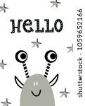 hello   funny nursery poster... | Shutterstock .eps vector #1059652166