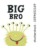 big bro   funny nursery poster... | Shutterstock .eps vector #1059652169