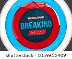 illustration of breaking news...   Shutterstock . vector #1059652409