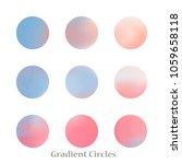round gradient set of vibrant... | Shutterstock .eps vector #1059658118