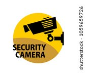 security camera sign.... | Shutterstock .eps vector #1059659726
