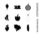 icon fruits and vegetables with ... | Shutterstock .eps vector #1059660620