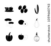 icon fruits and vegetables with ... | Shutterstock .eps vector #1059660743
