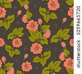 vector volumetric flower... | Shutterstock .eps vector #1059665720