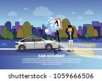 car accident concept man driver ...   Shutterstock .eps vector #1059666506