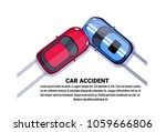 car accident collision top... | Shutterstock .eps vector #1059666806