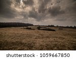 meadow with dramatic sky | Shutterstock . vector #1059667850