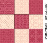 cherry red and beige geometric... | Shutterstock .eps vector #1059668309