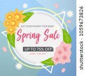 spring sale poster template | Shutterstock .eps vector #1059673826