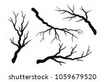 tree branch without leaves... | Shutterstock .eps vector #1059679520