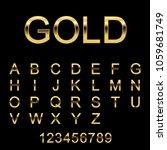 alphabetic golden fonts and...   Shutterstock .eps vector #1059681749