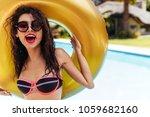 close up portrait of attractive ...   Shutterstock . vector #1059682160
