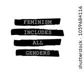 feminism includes all genders...   Shutterstock .eps vector #1059684116