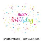 colorful text happy birthday...   Shutterstock .eps vector #1059684236