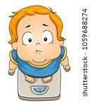 illustration of a fat kid boy... | Shutterstock .eps vector #1059688274