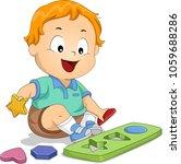 Illustration Of A Kid Boy...