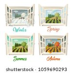set of isolated window...   Shutterstock .eps vector #1059690293