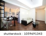 big and bright interior of... | Shutterstock . vector #1059691343