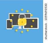 general data protection... | Shutterstock .eps vector #1059693530