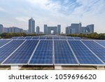 solar and modern city skyline   | Shutterstock . vector #1059696620
