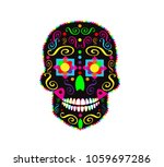 skull icon abstract colorful... | Shutterstock .eps vector #1059697286
