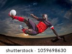 soccer man in action with ball | Shutterstock . vector #1059698630